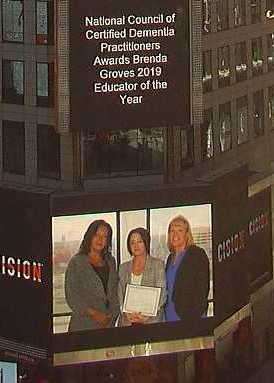 Awarded Brenda Groves 2019 Educator of the Year - Times Square