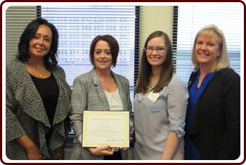 Lynn Biot Gordon, Chief Operating Officer of NCCDP, Brenda Groves, Libby Jones and Rhonda Brand, President of NCCDP
