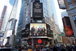Congratulations to the NCCDP's Educator of the Year, Joshua Freitas of LCB Senior Living. We're on Times Square!