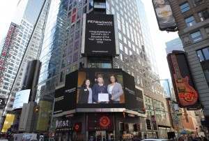 Check us out in Times Square!  Congratulations, again, Ivette Rivera-Ortiz, our 2017 Educator of the Year!