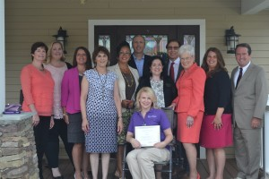 From left to right: Watermark's Supervisor of Assisted Living, Kathleen Pye, Watermark's Regional Director of Resident Programming, Maureen Garvey, Carolyn DeRocco of the Connecticut Alzheimer's Association, Watermark's Director of Health Services, Denise Julian, COO of the NCCDP, Lynn Biot Gordon, Managing Director of Operations at Watermark Retirement, Rich Howell, CNA of the Year, Lisa Ford, CEO of the NCCDP, Sandra Stimson, Managing Director of Watermark Retirement, Fred Zarrilli, Connecticut Lieutenant Governor Nancy Wyman, Watermark's Regional Sales Director, Dawn Marie Trombetta, and Chris Carter of the Connecticut Assisted Living Association.