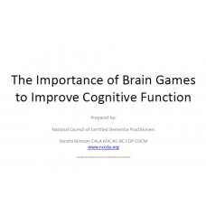 In-service: The Importance of Brain Games to Improve Cognitive Function