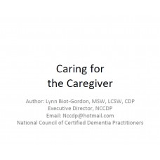 In-service: Caring for the Caregiver