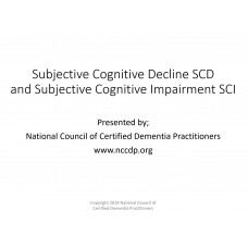 In-service: Subjective Cognitive Decline SCD and Subjective Cognitive Impairment SCI