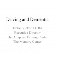 In-service: Driving and Dementia