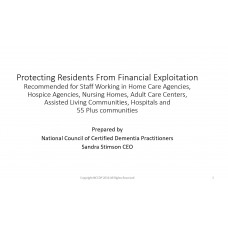 In-service: Protecting Residents From Financial Exploitation