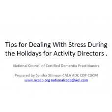 In-service: Tips for Dealing With Stress and the Holidays