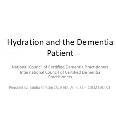 In-service: Hydration and the Dementia Patient