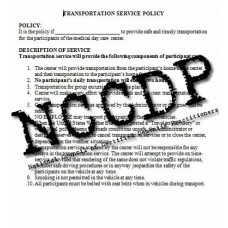 TRANSPORTATION SERVICE POLICY for Adult Day Care Programs