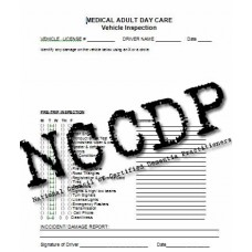 Adult Day Care Vehicle Inspection Form
