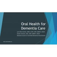 In-service: Oral Health for Dementia Care