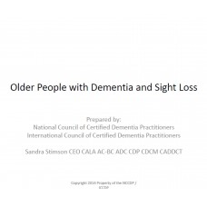 In-service: Older Person with Dementia and Sight Loss